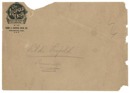 Aldo Leopold papers : 9/25/10-7 : Diaries and Journals