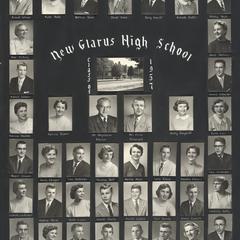 1957 New Glarus High School graduating class