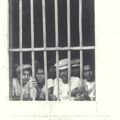Insurgent army officers in prison, Manila, 1901