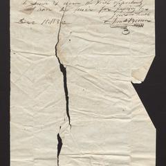 Letter from Thomas Brown to Felix Dominy, 1832