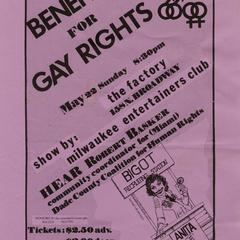 Benefit poster - gay rights