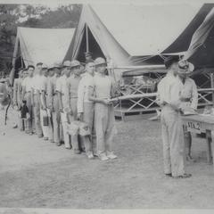 Arrival of new cadets of Class '42, Baguio
