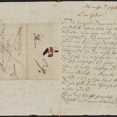 [Letter from Paul (Schwarzenfeld?) to Jakob Sternberger, February 23, 1850]