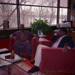 Oba Oladele Olashore and Richard Olaniyan in office at UW-Parkside