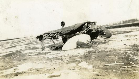 Don at scene of Crash of Gil Jackson's Culver Cadet