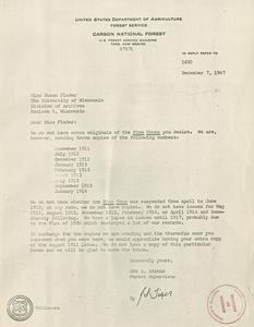 Aldo Leopold papers : 9/25/10-11 : Forest Service Records