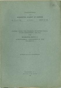 Papers from the Hopkins-Stanford Galapagos Expedition, 1898-1899. VIII. Entomological results (7). Schistocerca, Sphingonotus and Halmenus.
