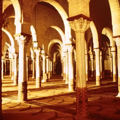 Interior of Grand Mosque in Kairouan