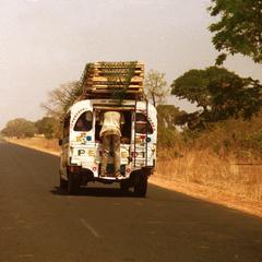 A Bush Taxi on Banjul-Basse Highway