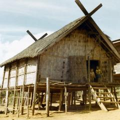 Traditional Nyaheun dwelling in Attapu Province