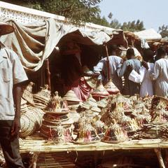 Shop at Touba Selling Fulbe Hats