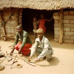 Balante Men with Their Tools for Farming at Mongorongo