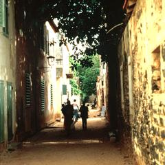 Scene on Narrow Street on Island of Gorée