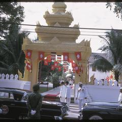 Departure from Vat Ong Tu oath taking ceremony--by rank order