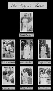 Original seven members of Gamma Alpha Epsilon sorority