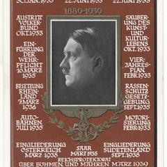 Hitler's 50th birthday, list of achievements