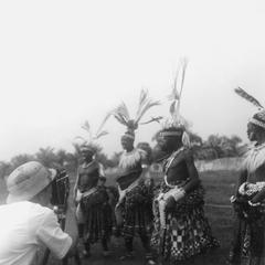 Local Adminstrator Photographing Kuba-Bushong Dance Preparations