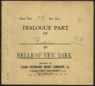 The Belle of New York [collection] : a musical comedy in two acts