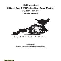 [Proceedings of the Midwest Deer and Wild Turkey Study Group Annual Meeting, 2016]