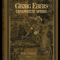 Georg Ebers Gesammelte werke; v. XIV : Die Gred