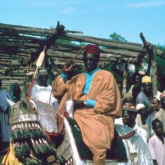 Kanuri Horseman from Maiduguri in Ceremony for Head of District
