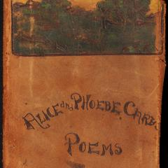 The poems of Alice and Phoebe Cary