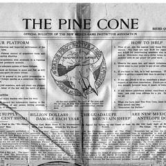 """""""The Pine Cone,"""" bulletin of the New Mexico Game Protective Association (AL edited), April 1916"""