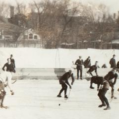 Hockey game on Library Mall