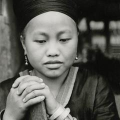 Hmong woman in the area of Muang Vang Vieng in Vientiane Province