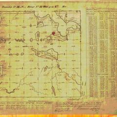 [Public Land Survey System map: Wisconsin Township 36 North, Range 12 West]