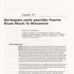 Borinquén suelo querido : Puerto Rican music in Wisconsin
