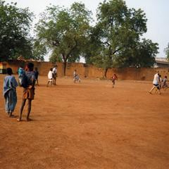 Children in soccer game