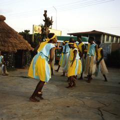 Group of dancers masquerade