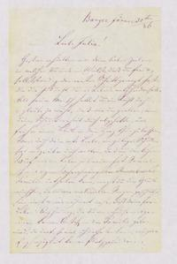 [Letter from Jakob Sternberger to his daughter, Julia, January 30, 1886]