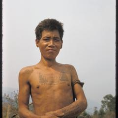 Proud young Kammu (Khmu') with tattoos