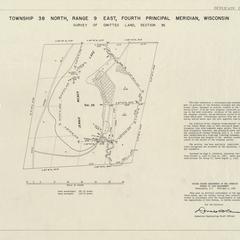 [Public Land Survey System map: Wisconsin Township 38 North, Range 09 East]