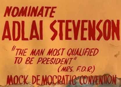 Mock Democratic Convention nomination poster