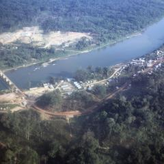 Aerial view of Ban Thalat