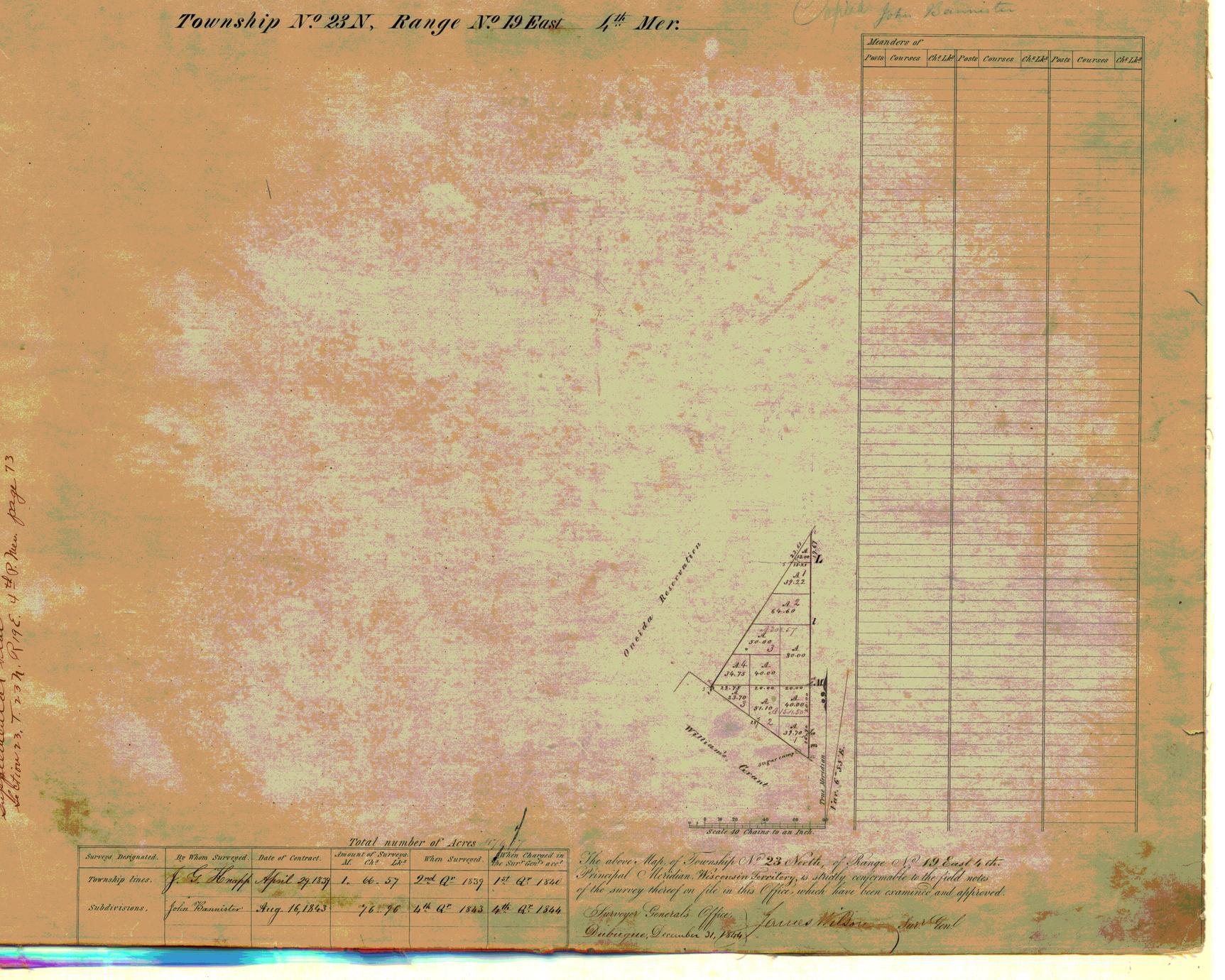 [Public Land Survey System map: Wisconsin Township 23 North, Range 19 East]