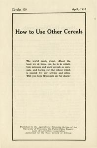 How to use other cereals