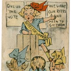 Votes for wimmen, suffrage postcard