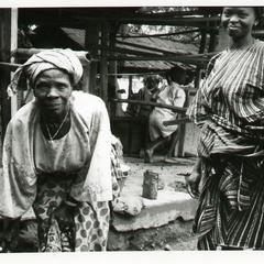 People at Oshu market