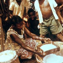 Sifting Cassava (Manioc) Flour
