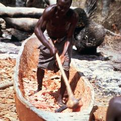 Carving a Pirogue (Canoe) from a Tree