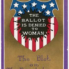Blot on the escutcheon, suffrage postcard