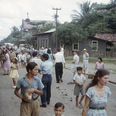 Railroad station life, Turrialba, 1949