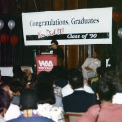 Donna Shalala address Multicultural Reception and Awards ceremony in 1990