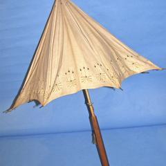 Parasol, ecru linen