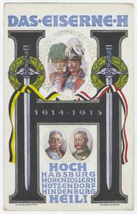 Das eiserne H, 1914-1915 : Hoch Habsburg Hohenzollern Hötzendorf Hindenburg Heil!