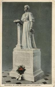 Frances Willard statue postcard